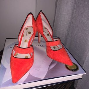 Boden Adrianna Heels, Red, size 6.5